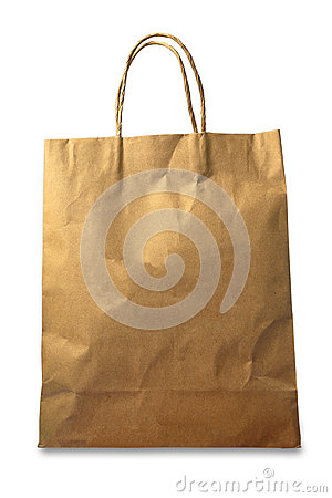 Free Brown Paper Bag On White Background Stock Photo - 92113880