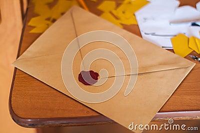 Brown Paper Envelope On Table Free Public Domain Cc0 Image