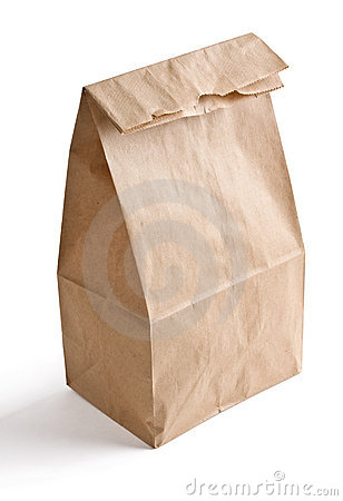 Free Brown Paper Lunch Bag Royalty Free Stock Photo - 15463845