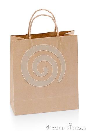 Free Brown Paper Shopping Bag Royalty Free Stock Photo - 14923515
