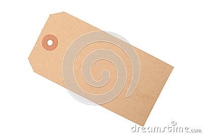 Brown paper tag