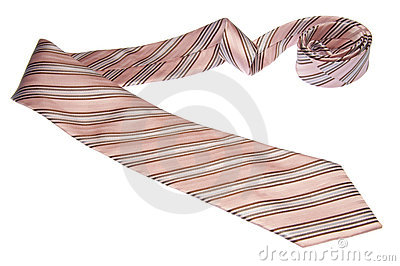 Brown and Pink Tie
