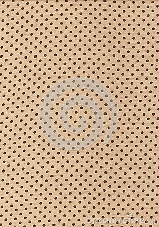 Brown polka dot vintage pattern on cloth texture