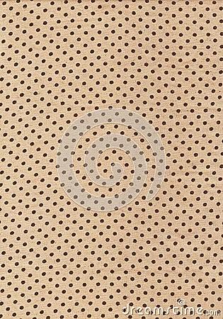 Brown polka dot vintage pattern on cloth texture