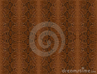 Brown python skin