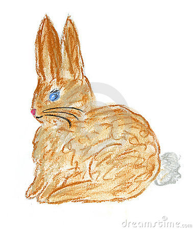 Brown rabbit illustration