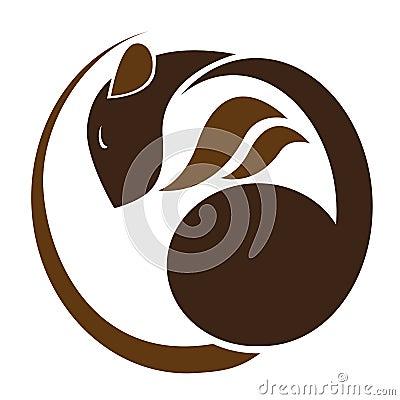 Brown rat Vector Illustration