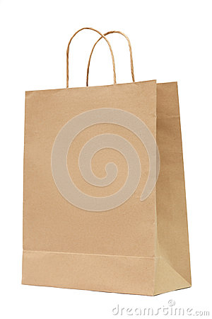 Brown recycled paper bag