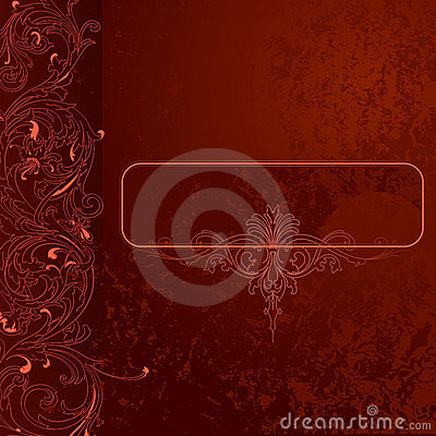 Free Brown-red Grunge Lace Background Banner Stock Photos - 3971223