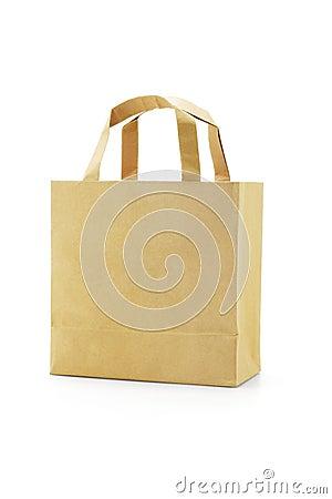 Brown reusable paper bag