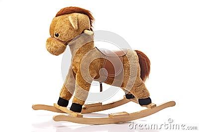 Brown Rocking Horse