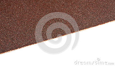 Brown sandpaper texture, closeup shot