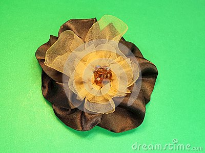 Brown satin flower