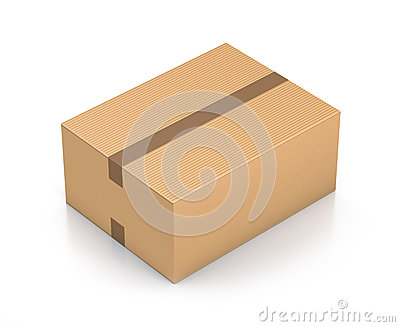 Brown sealed rectangle box.
