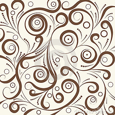 Brown seamless curl pattern