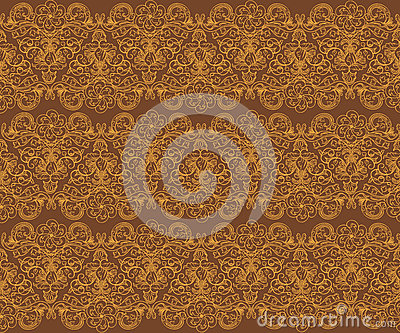 Brown Seamless Floral Pattern