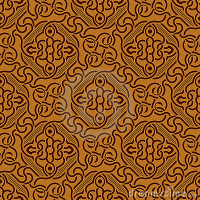 Brown seamless ornament