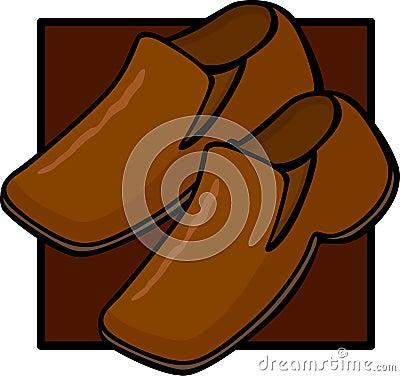 Brown shoes pair