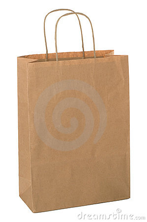 Brown shopping bag.