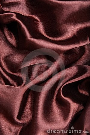 Brown silk textile