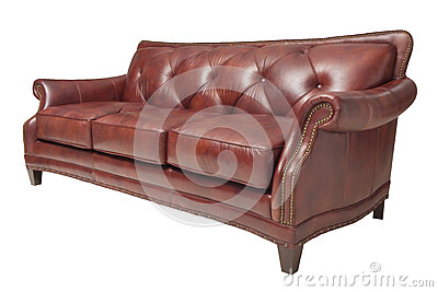 Brown-Sofa