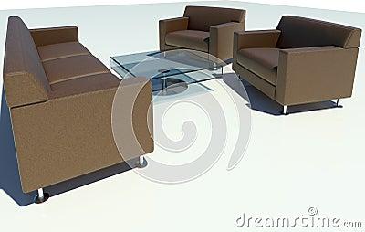 Brown Sofa Group