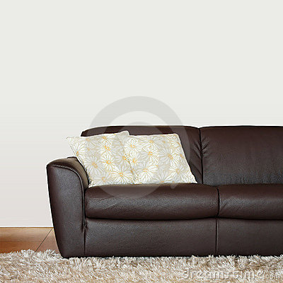 Brown sofa part