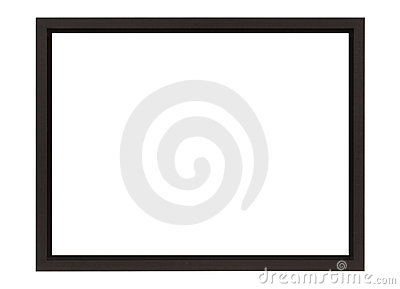 Brown Solid Wood Frame With Shadow Gap Stock Photo - Image: 17539910
