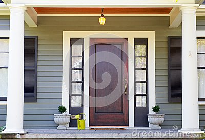 Brown stained Front Door