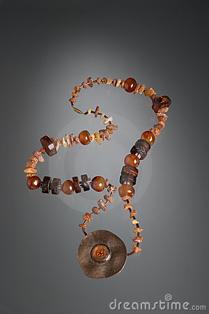 Brown stone necklace