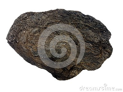 Brown stone with a wavy surface