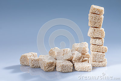 Brown sugar cubes - horizontal