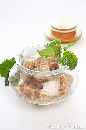 Brown Sugar In Glass Bowl Royalty Free Stock Images - Image: 19019959