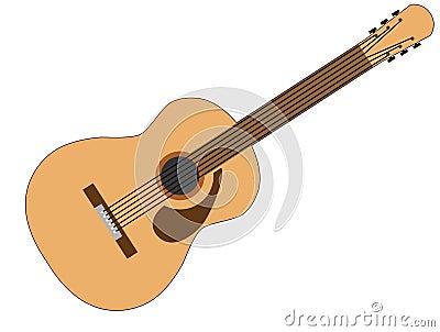 Brown and Tan 6 String Acoustic Guitar