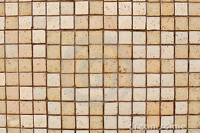 Brown Tan Mosaic Tile Background