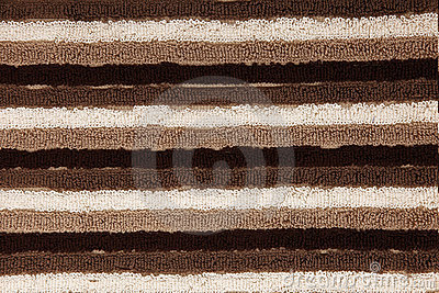 Brown, Tan, White Striped Towel Texture Closeup
