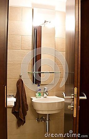 Brown theme toilet