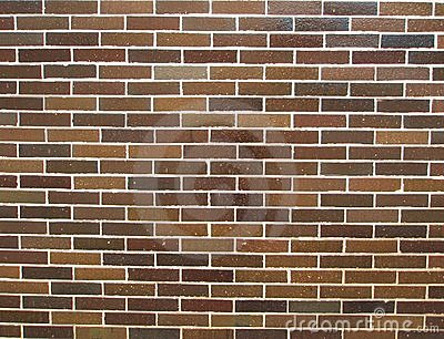 Brown tile wall background