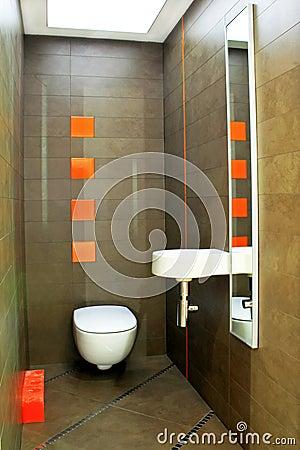 Brown toilet angle