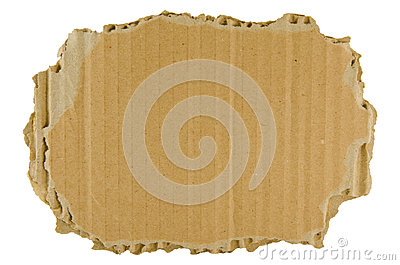 Brown torn cardboard