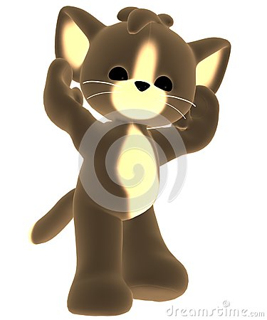 Brown toy cat