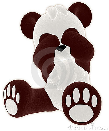 Brown toy panda