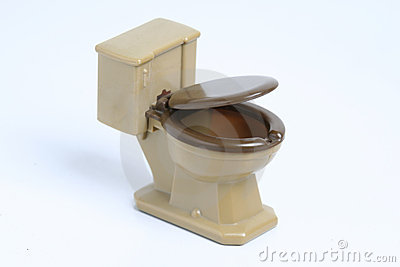 Brown Toy Toilet