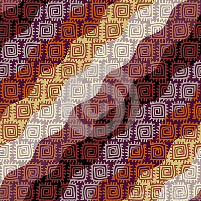 Free Brown Tribal Background. Stock Images - 124594504