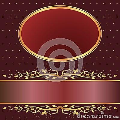 Brown und roter Hintergrund