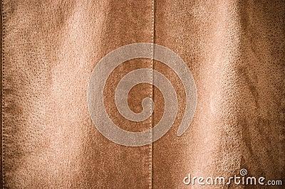 Brown undulating leather