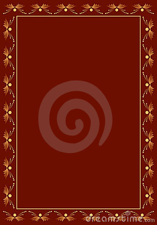 Brown vector frame with beige decor