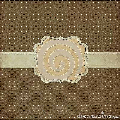 Brown vintage frame