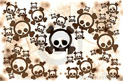 Brown war skulls