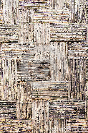 Brown weave bamboo